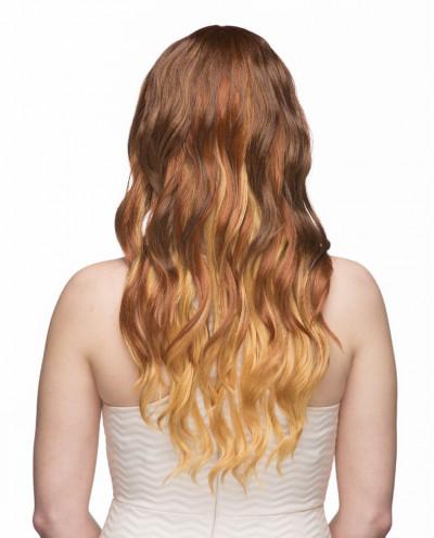 Sepia – Perruque synthétique longue aux cheveux lisses Jewel