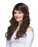 Mane Muse — Perruque synthétique longue cheveux bouclés Everly (brun)