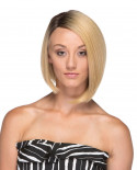 Sepia — Perruque synthétique courte et lace front Virginia (blond)