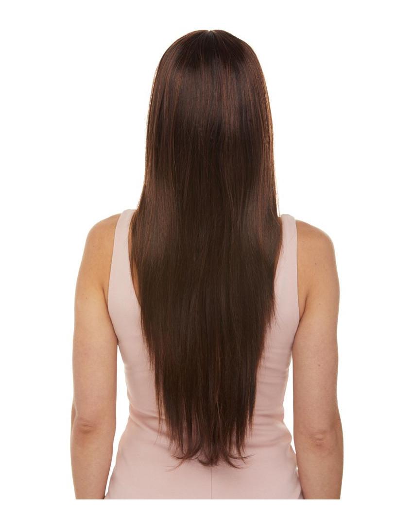 Sepia — Perruque synthétique très longue aux cheveux lisses Jewel Long