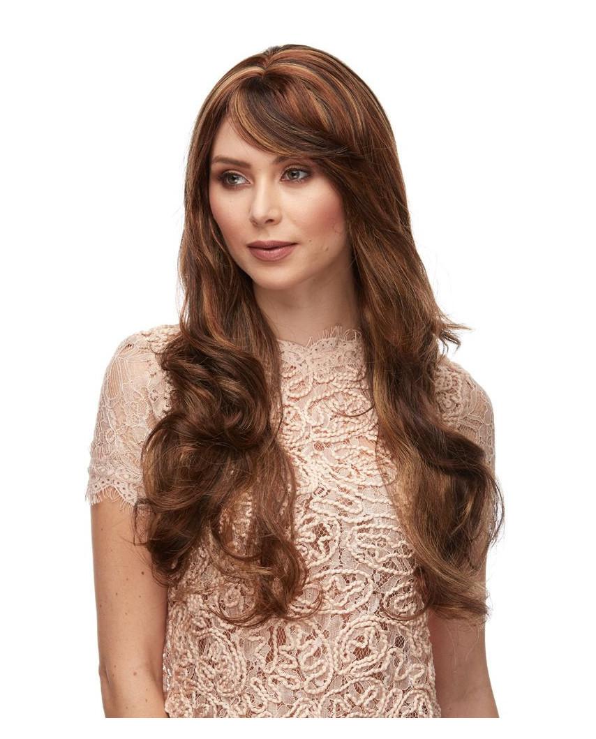 Sepia — Perruque synthétique longue aux cheveux ondulés Broadway