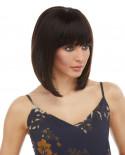 Eleganté — Perruque en cheveux 100% naturels au carré plongeant Jaylyn (brun)