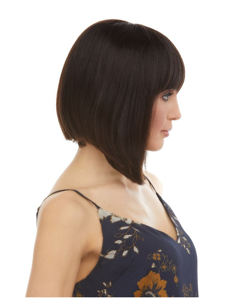 Eleganté — Perruque en cheveux 100% naturels au carré plongeant Jaylyn