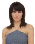 Eleganté — Perruque en cheveux 100% naturels mi-longue Aileen