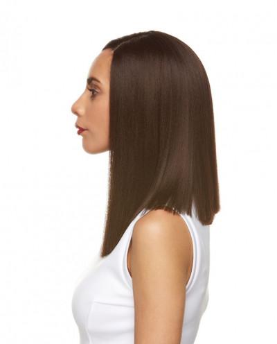 Sepia — Perruque synthétique mi-longue et lace front Janice