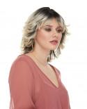 Sepia — Perruque synthétique mi-longue cheveux ondulés Bali (blond platine)