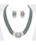 Christina Collection — Parure de bijoux à perles et strass