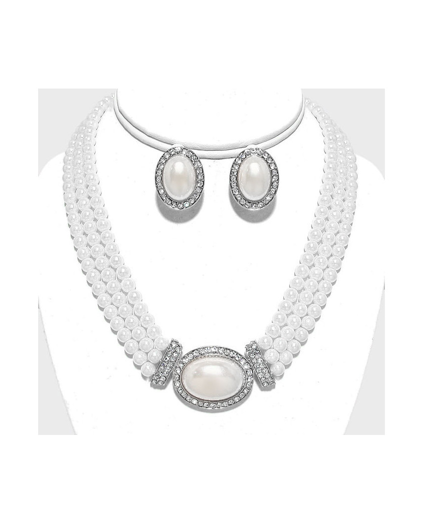 Christina Collection — Parure de bijoux à perles et strass