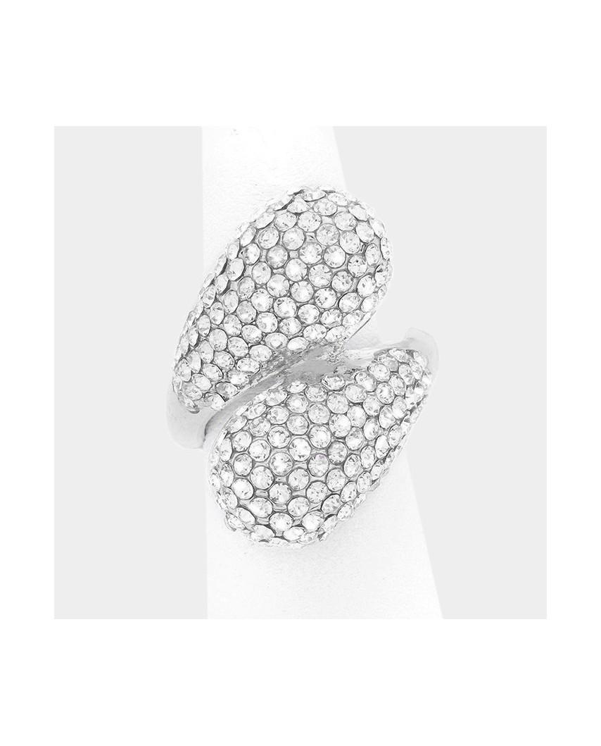 Fashion Jewelry — Bague extensible décorée de pierres brillantes