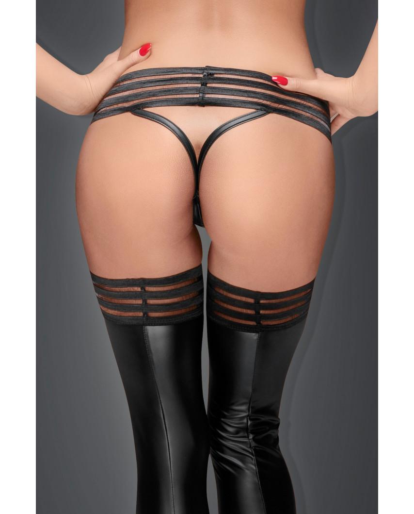 Noir Handmade — String ceinture large wet look F161