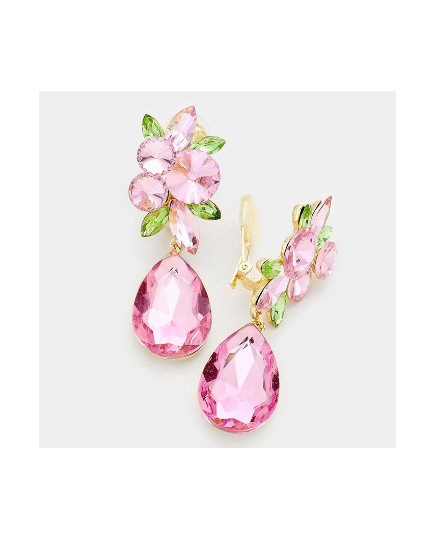 Fashion Jewelry — Boucles d'oreilles à clips goutte d'eau en verre