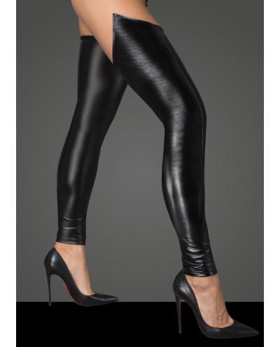 Noir Handmade — Bas simili-cuir et wet look F196