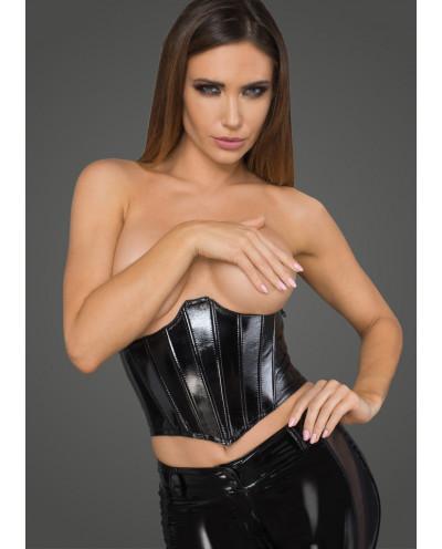 Noir Handmade — Serre-taille en simili-cuir verni F211