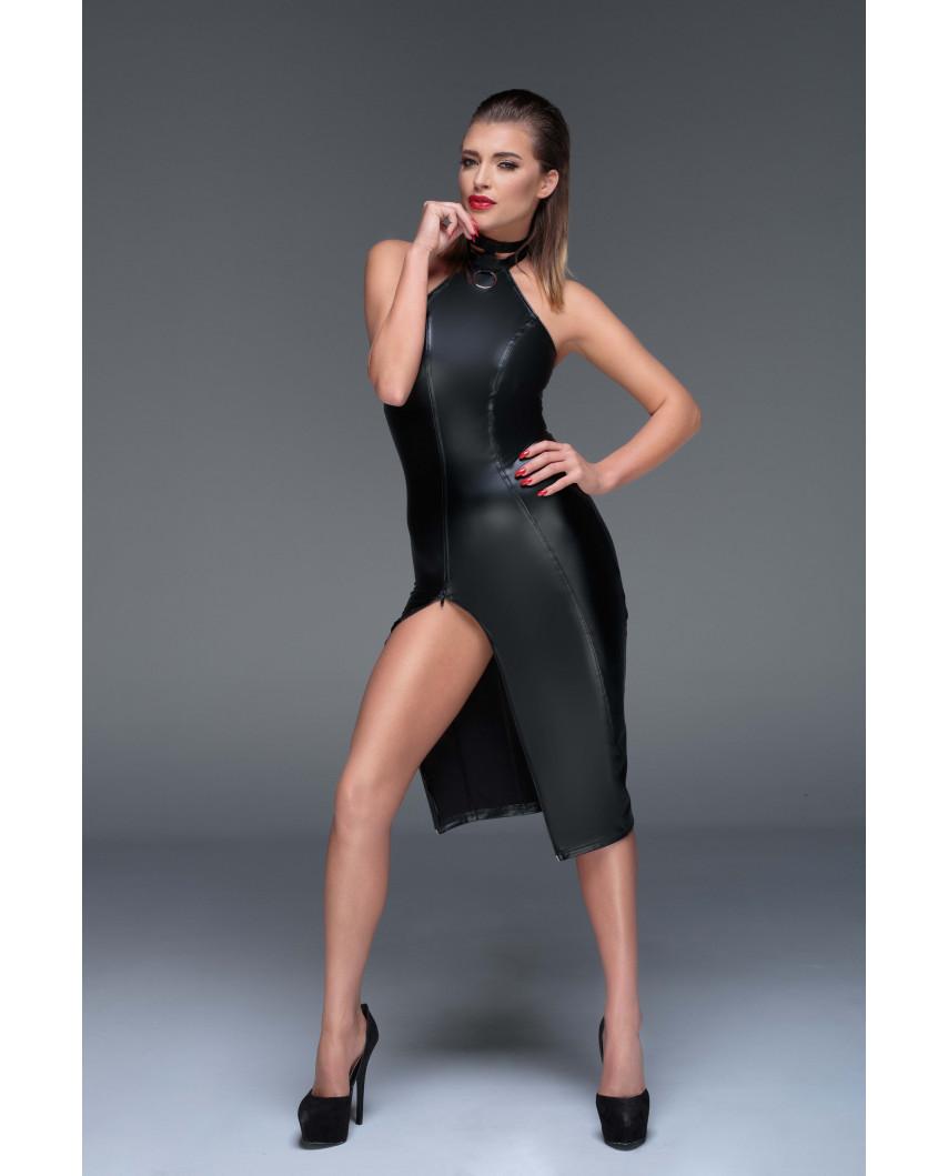 Noir Handmade — Robe dos nu à anneau F160
