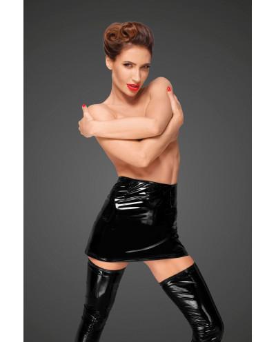 Noir Handmade — Mini-jupe en vinyle taille haute F189