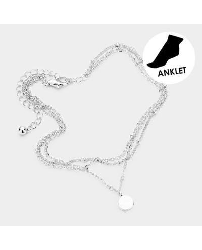 Dorothy — Bracelet de cheville avec disque en métal