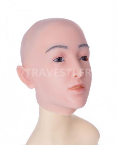 Masque complet et réaliste en silicone Claire