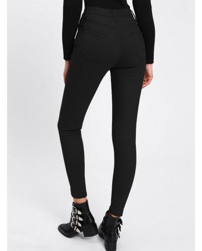 Jean skinny femme longueur cheville (noir)