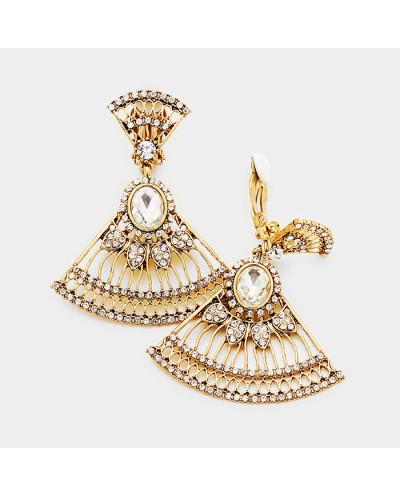 Sophia Collection — Boucles d'oreilles à clips en éventail