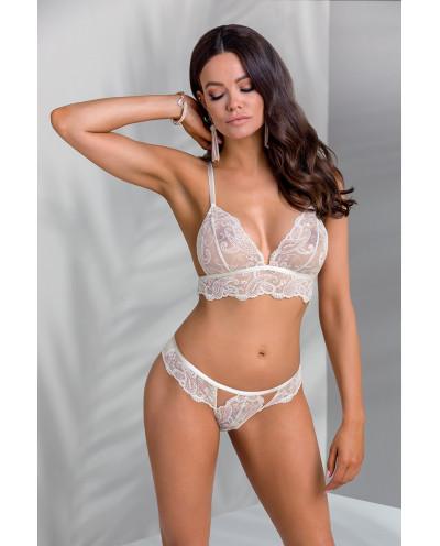 Ensemble de lingerie transparente soutien-gorge et culotte Inoe