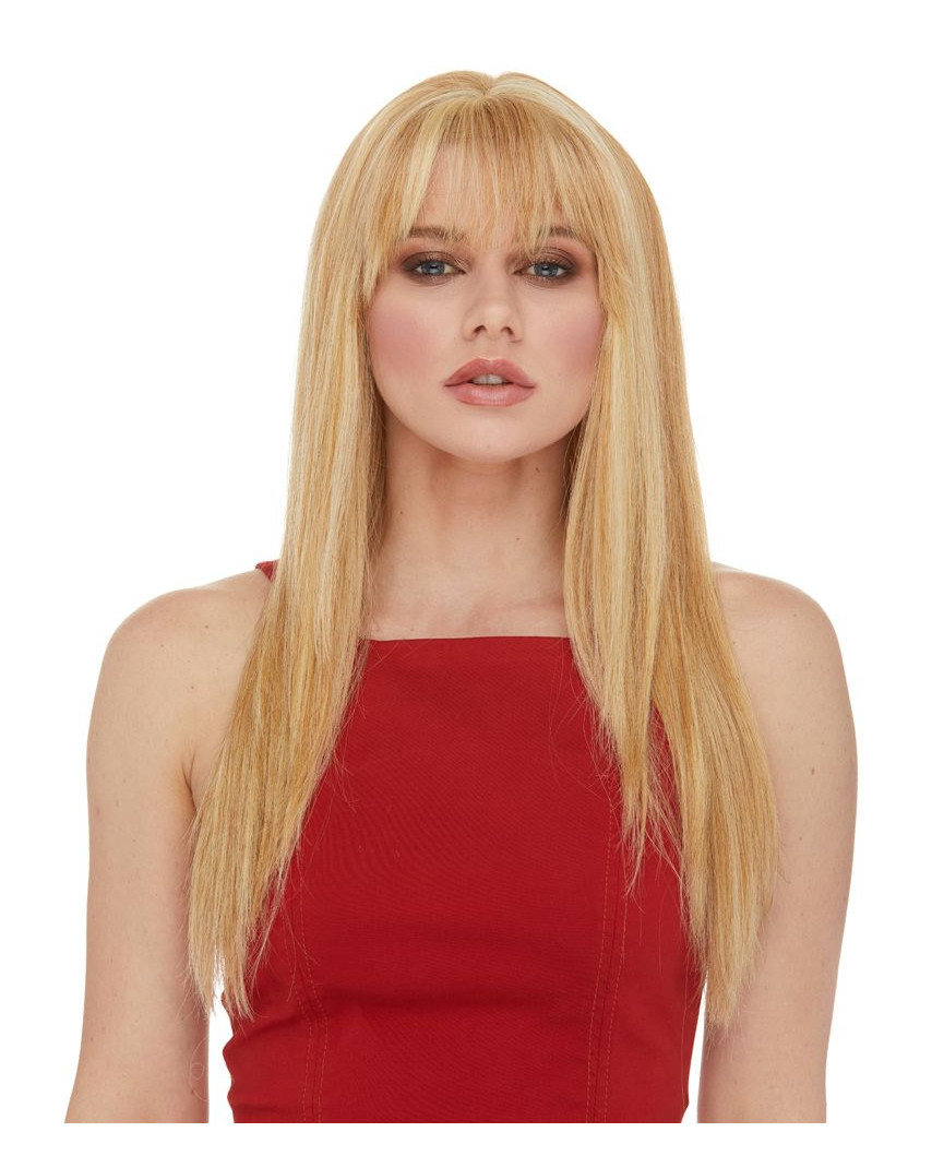 Perruque en cheveux 100% naturels longue Tatum (blond)