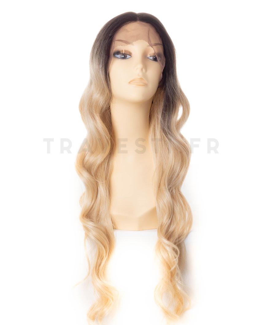 Perruque semi-naturelle lace front ondulée Bridget (blond)