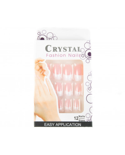 Crystal Fashion Nails — Faux ongles french manucure à coller