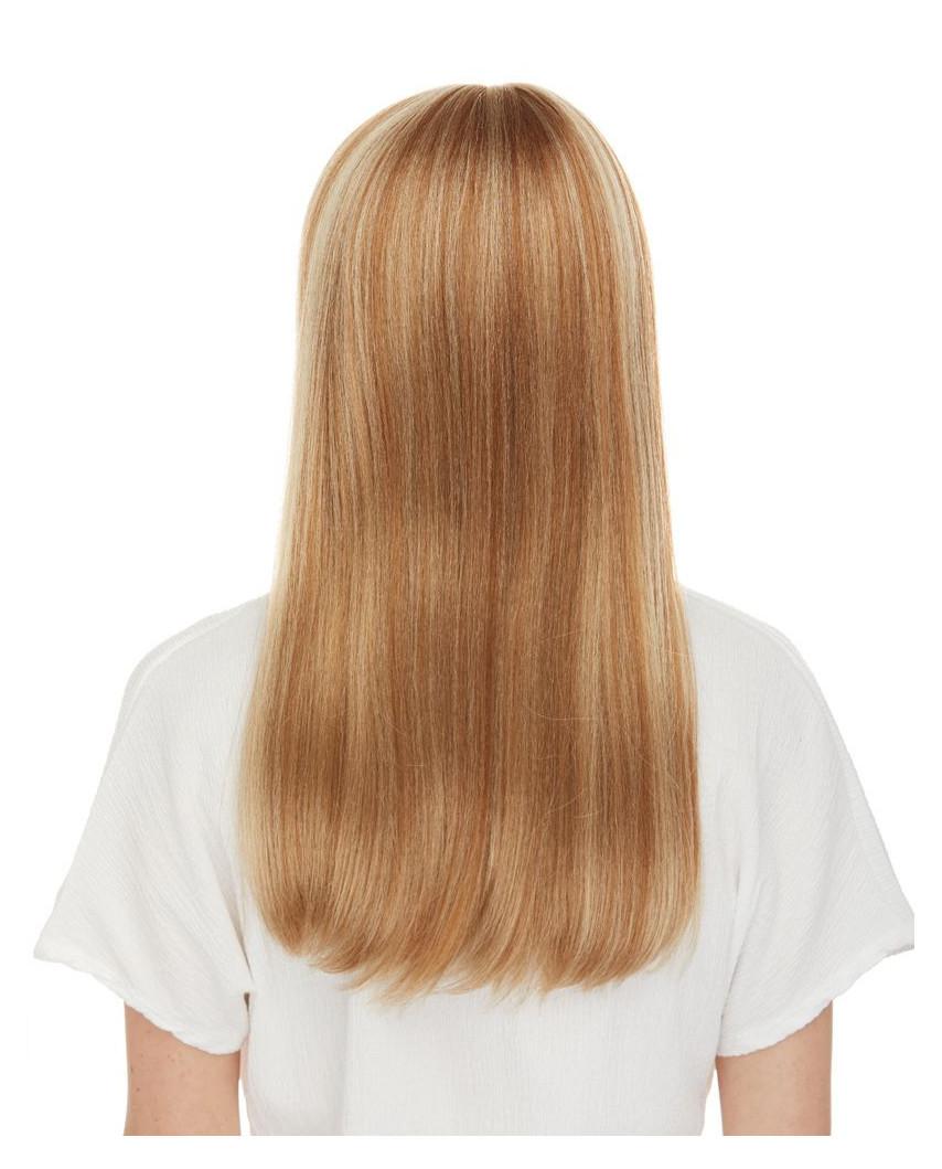 Sepia — Perruque synthétique longue à frange droite Kelly