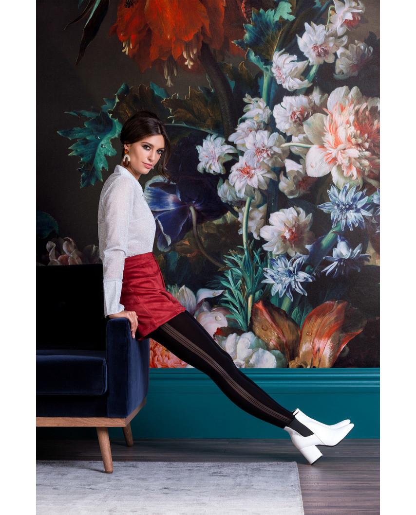 Gabriella — Collants opaques à bandes verticales Adele