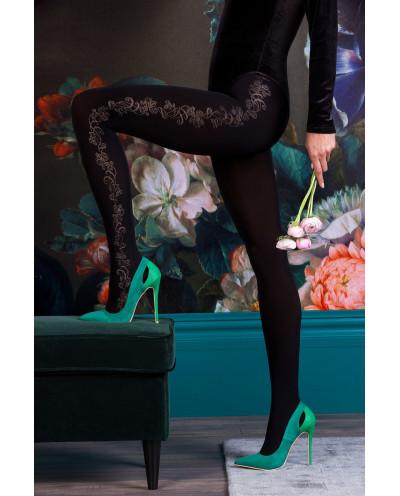 Gabriella — Collants opaques à motifs fleuris Brenda