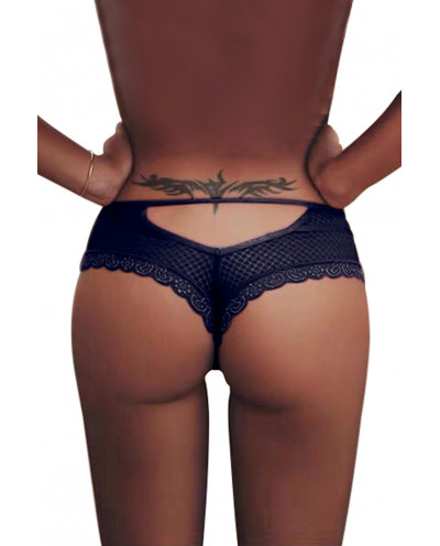 Paris Hollywood - Tanga en dentelle (bleu)