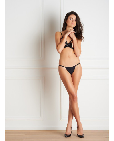 Maison Close - String ouvrable Le Petit Secret (noir)
