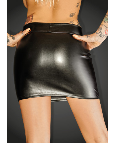Noir Handmade - Mini-jupe en similicuir F126