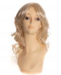Sepia - Perruque synthétique mi-longue aux cheveux bouclés Bliss (blond)