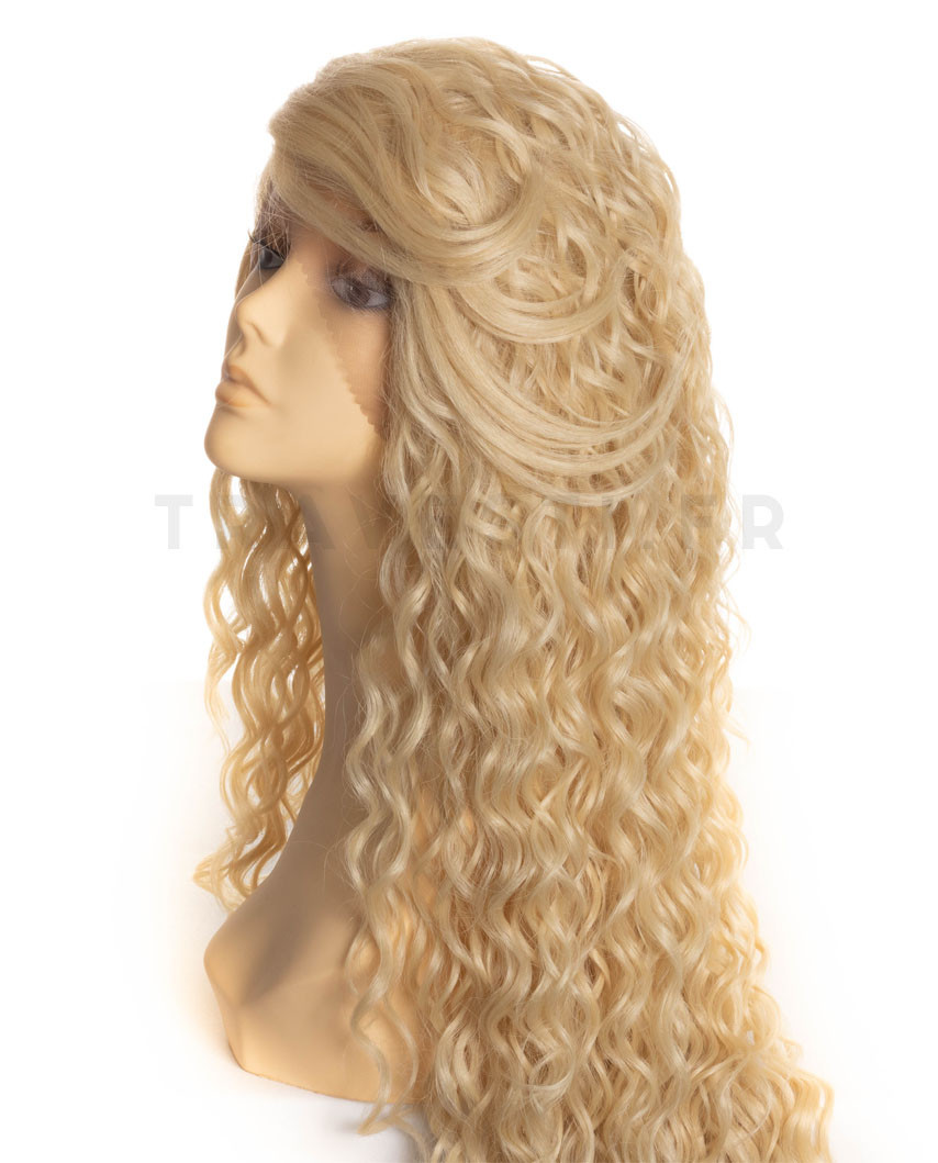 Sepia - Perruque synthétique longue et lace front Symphony (blond platine)