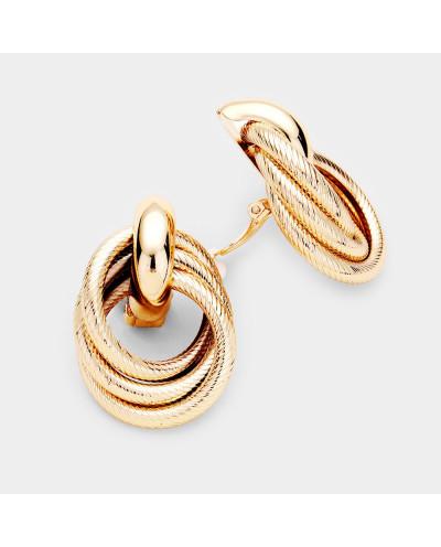 Boucles d'oreilles à clips avec heurtoir en métal