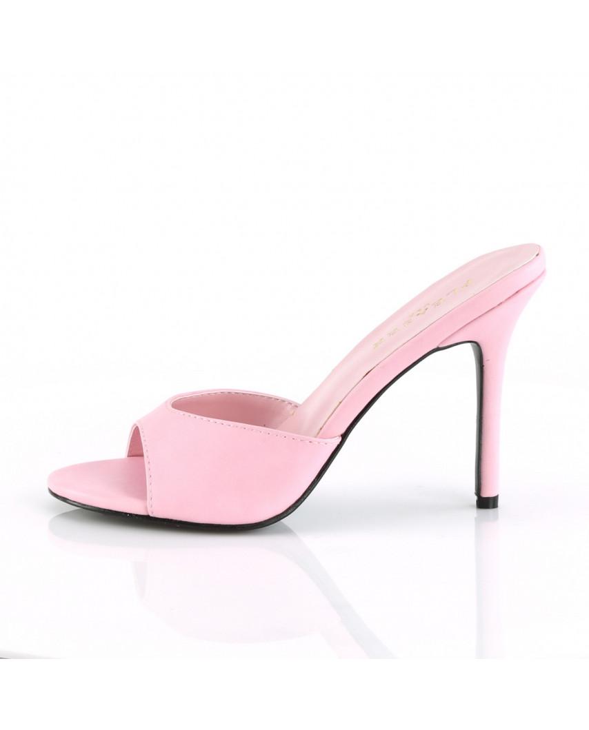 Mules Classique-01 (rose mat)