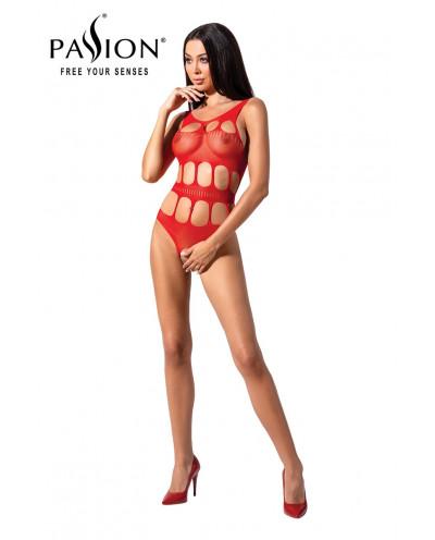 Body ouvert résille BS083 - Rouge
