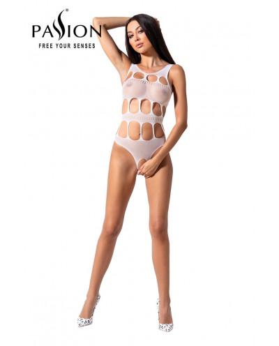Body ouvert résille BS083 - Blanc