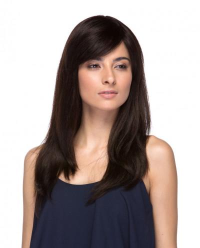 Eleganté — Perruque en cheveux 100% naturels longue et lisse Mariam (noir)