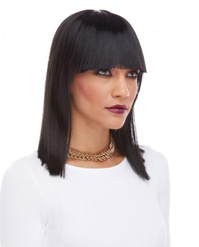 Characters — Perruque synthétique mi-longue déguisement Cleopatra (noir)