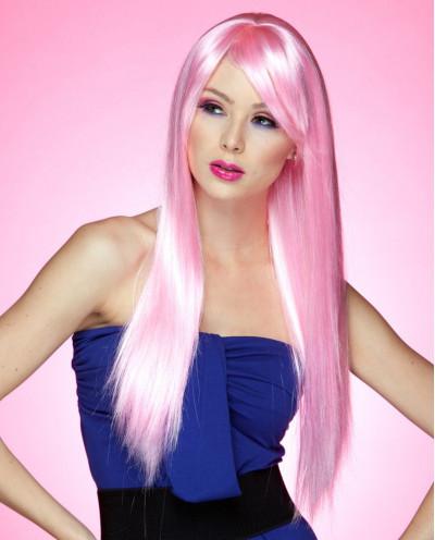 Blush — Perruque synthétique très longue cheveux lisses Divine