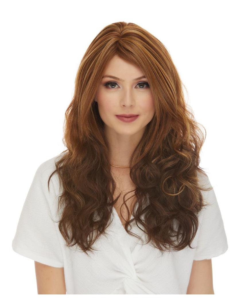 Sepia — Perruque synthétique longue cheveux ondulés Gabby