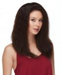 Eleganté — Perruque en cheveux 100% naturels et lace front Indiana (noir)