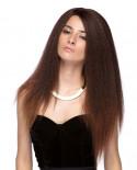Sepia — Perruque longue à texture Yaki et lace front Lotti (cuivré)