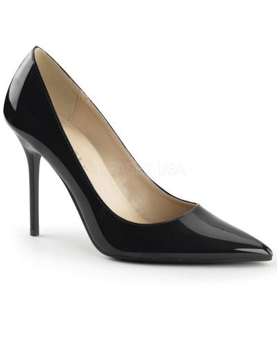 Pleaser — Escarpins classiques à bout pointu Classique-20 (noir verni)
