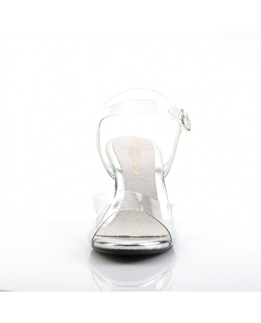 Fabulicious — Sandales transparentes à petits talons Belle-308