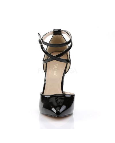 Pleaser — Escarpins d'Orsay talons aiguilles à bride croisée Amuse-25