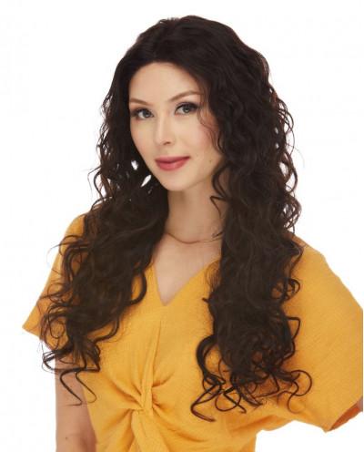 Eleganté — Perruque lace front en cheveux 100% naturels Adriana (brun)