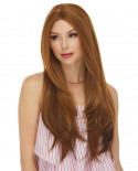 Sepia — Perruque synthétique longue et lace front Lindsey (roux)